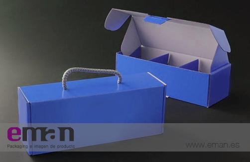 Caja con asa de algodón