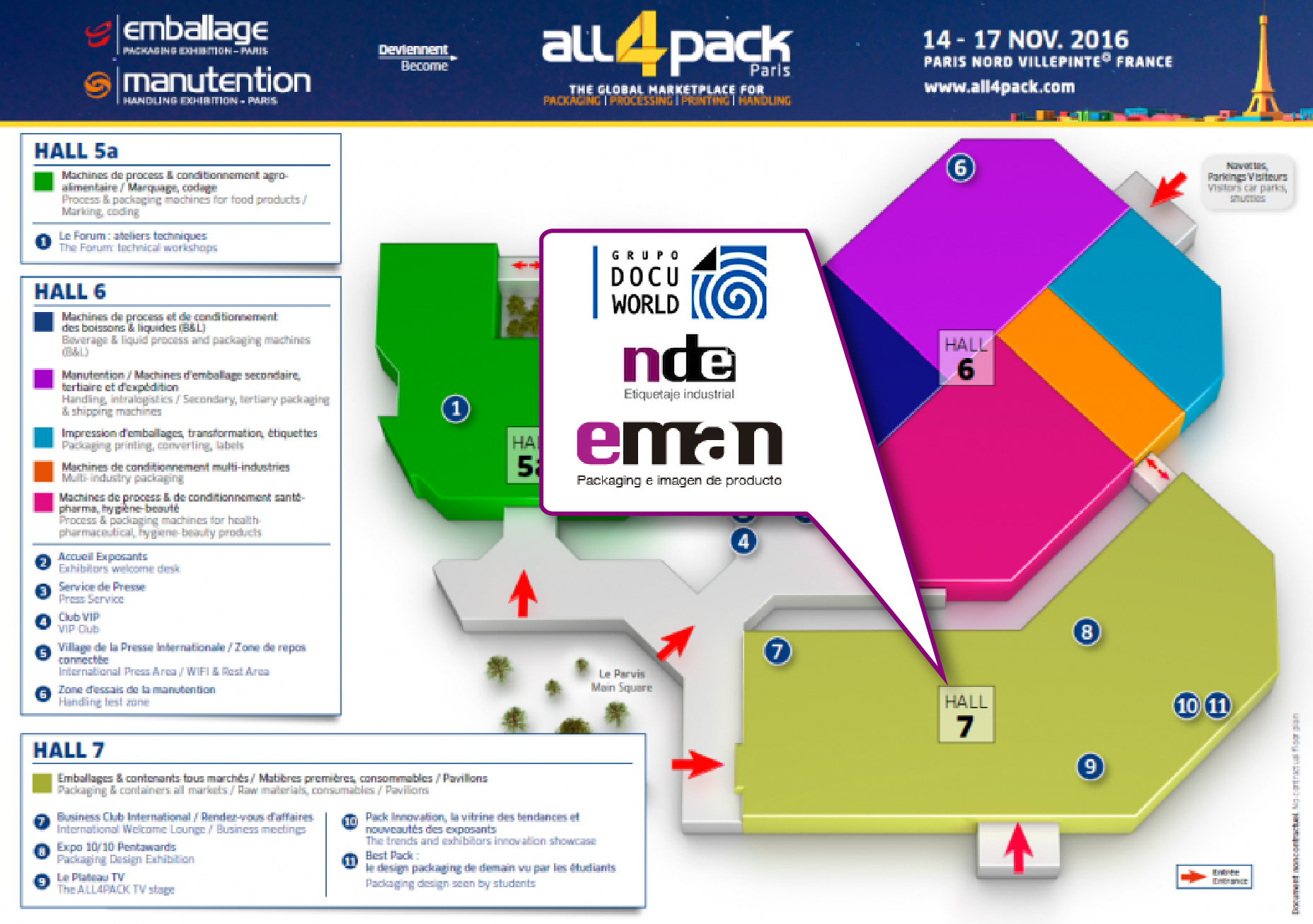 Participamos en la feria All4Pack – Emballage 2016 de París